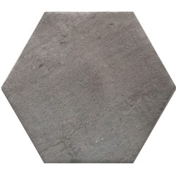 "ROYAL STONE SILVER 10"" HEXAGON"