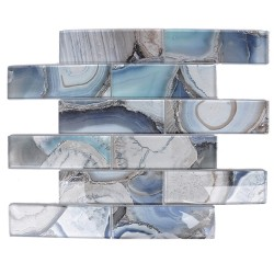 AGATE GLASS 2X6 BLUE
