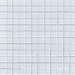 CRYSTAL SUPER WHITE 1X1 MOSAIC