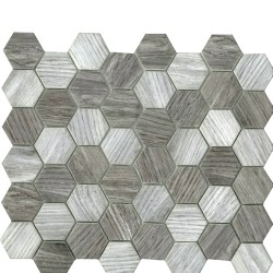 DIGITAL GLASS LT.GREY HEXAGON