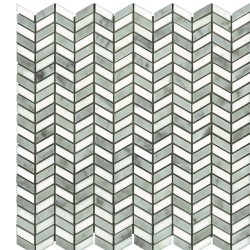 CHEVRON MINI THASSOS/CARRARA