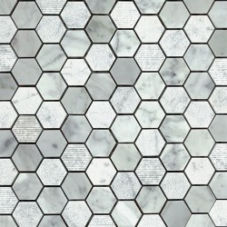 "CARRARA 1"" HEX"