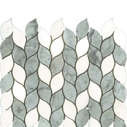 WATERJET LEAF THASSOS/CARRARA